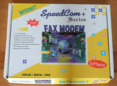 A Used SpeedCom + Series 56K Fax Modem With PCI Interface And Modem Drivers. • 4.10£