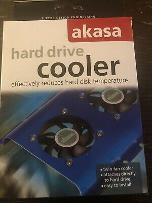 Akasa Hard Drive Cooler Twin Fan Cooler Attaches Direct To Hard Drive RRP £15 • 7.90£