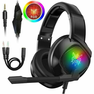 Gaming Headset Wired LED Headphones With Mic For Xbox One/PS4/PC/Nintendo Switch • 22.05£