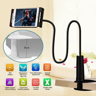 360 Flexible Lazy Bed Tablet Holder Mount With Clamp For IPad Tab Phones Stand • 6.29£