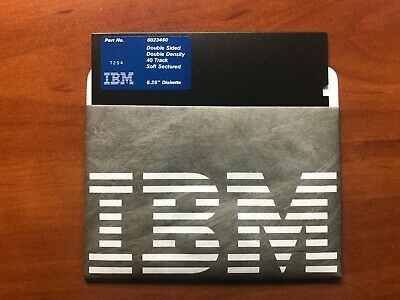 Genuine IBM 5.25 Inch Floppy Diskettes (Pack Of 10) Double-Sided Double-Density • 25£