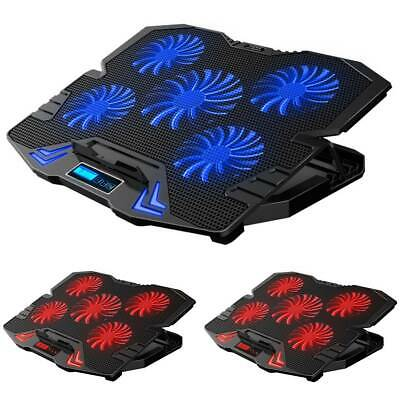 """6 Powerful Fans Laptop Cooler Cooling Mat Pad Stand Fit For Gaming 12"""" - 17  UK • 25.26£"""