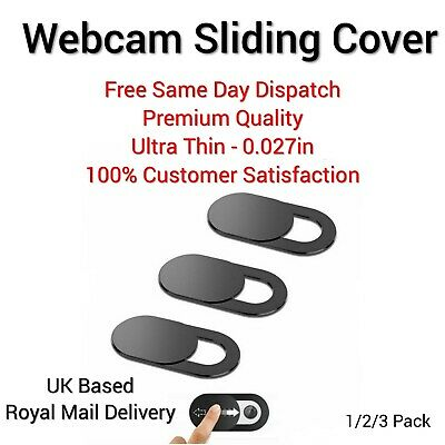 Webcam Cover Ultra Thin 1/2/3 Pack Camera Privacy Security Sticker Slider Laptop • 1.99£