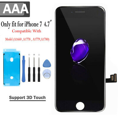 For IPhone 7 Genuine Original OEM Digitizer Black LCD Screen Touch Replacement • 17.99£