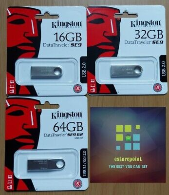 Kingston Data Traveler SE9 USB Flash Drive Memory Stick 16gb 32gb 64gb • 5.25£