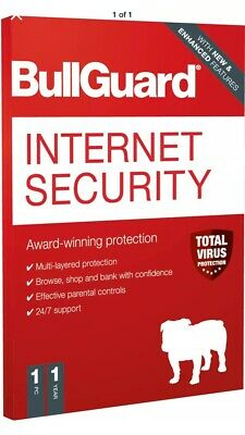 Bullguard Internet Security 3 Device 1 Year License PC • 10£