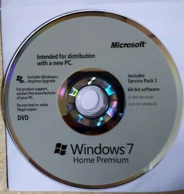 Genuine Windows 7 Home Premium 64 Bit Disk Full Installation OR Upgrade Any PC • 15£