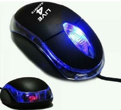 Mouse Mini USB Wired Optical Mice For PC Laptop Desktop Black Color 1.2M Cable • 2.99£