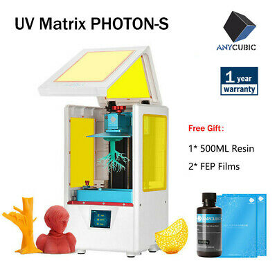 UK ANYCUBIC SLA Photon S LCD 3D Printer UV Resin Light-Curing Dual Z-axis • 165£