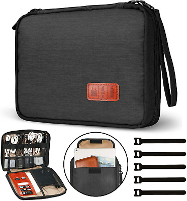 GiBot Cable Organiser Bag,Travel Electronics Accessories Bag Organiser For Cable • 15.53£