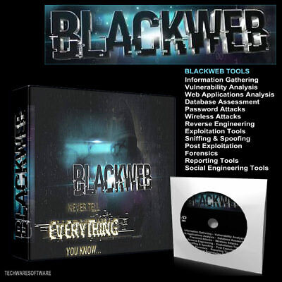 BLACKWEB  UNLEASHED  2020 - PC Hacking Tools - Operating System Any Computer DVD • 3.98£