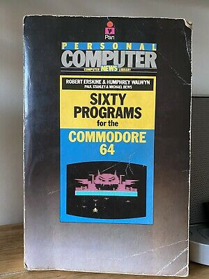 SIXTY PROGRAMS Vintage Commodore 64 User Manual Book C64 • 10£