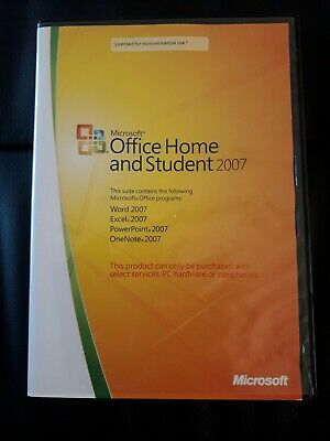Microsoft Home And Student 2007 • 3.40£