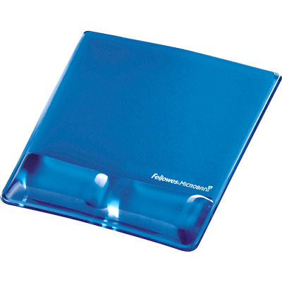 Fellowes Health-VT Crystal Mouse Pad Wrist Support - Blue • 17.61£