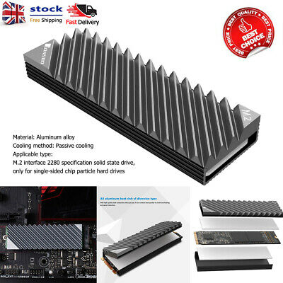 M.2 2280 SSD Hard Disk Aluminum Heat Sink With Thermal Pad For Desktop PC • 7.29£