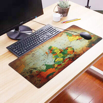 HOT Extra Large Gaming Mouse Pad Desk Mat For PC Laptop 90cm*40cm Earth Map • 6.99£