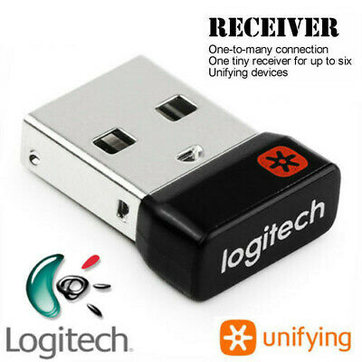 Replacement Logitech Unifying Receiver Wireless Mouse Keyboard USB Dongle 1 To 6 • 7.59£