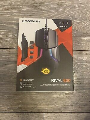 Brand New SteelSeries Rival 600 Gaming Mouse - Black (free P&P) • 62.99£