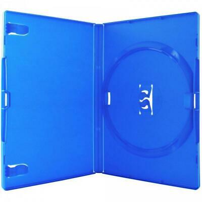 10 VARIOUS COLOURS SINGLE 14mm DVD CASES • 4£