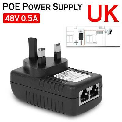 1/2/4  POE Power Supply PoE Injector Adapter Power Over Ethernet Wall Plug • 19.69£