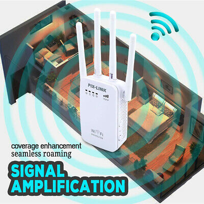 WiFi Signal Extender Range Booster Dual-Band Network Amplifier Repeater UK Plug • 12.95£