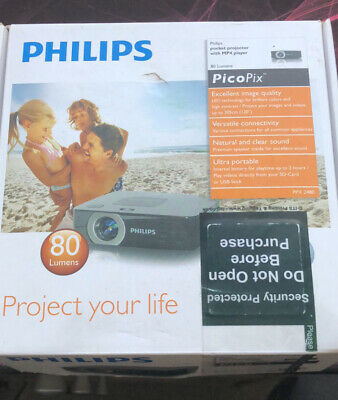 Philips Picopix PPX2480 Pocket Projector Hdmi Usb 80 Lumens • 49.75£