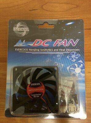 Evercool 70mm X 10mm DC Fan 12V 3-pin, Ball Bearing, EC7010M12CA • 3.35£