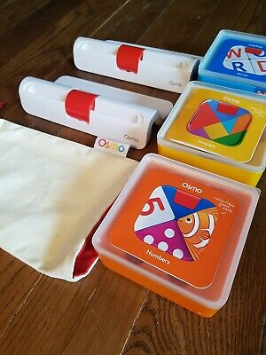 Osmo Genius Starter Kit 2 BASES, Tangram, Numbers, Words. Immaculate.  • 65£