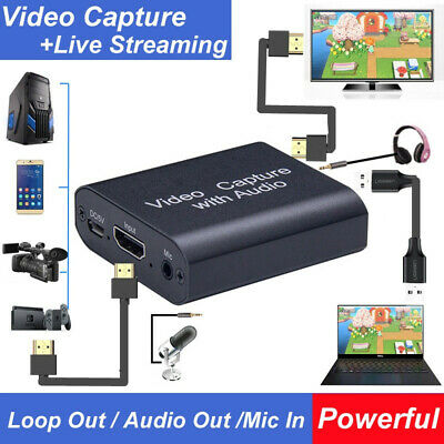 HDMI To USB2.0 Game Capture Card HD 1080P Video Camera For OBS Live Streaming • 24.75£