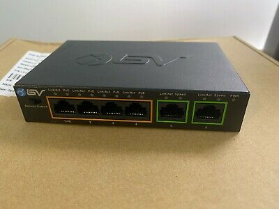 BV-Tech 4 Port PoE+ Switch + 2 Ethernet Uplink And Extend 60W • 14.99£