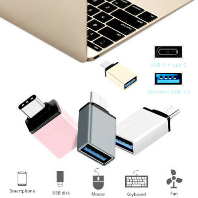 Type C To USB Adapter 3.0 USB-C 3.1 Male OTG A Female Data Connector Converter • 3.05£