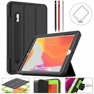 For IPad 10.2  7th 8th Generation Smart Shockproof Case Cover With Pen Holder UK • 25.98£