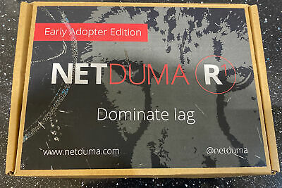 Netduma R1 Gaming Router Eliminate Lag Playstation Xbox PC COD Fortnite Fifa • 49£