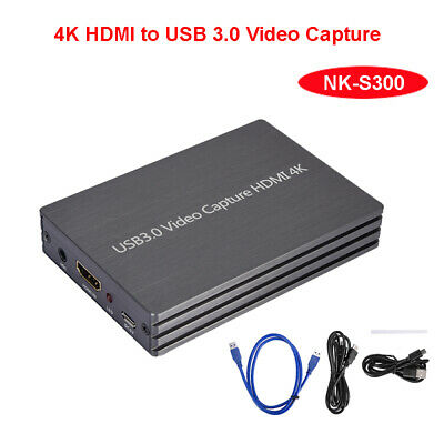 USB3.0 HDMI Video Capture Box 4K@60Hz Video Full HD FHD For Live OS X Streaming • 51.99£