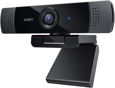 Aukey Full HD (1080p) Webcam For Video Chat With Stereo Microphone - Black, USB • 34.99£