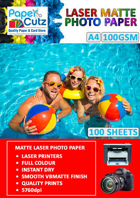 A4 Laser Photo Paper Double Sided, Matte Or Gloss Coated For Printing Images • 5.99£