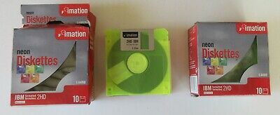 Imation Neon 1.44MB Diskettes X 18 – NEW / UNUSED • 14.99£