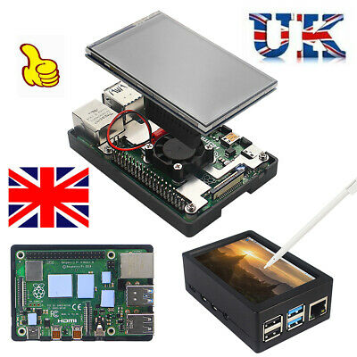 3.5 TFT Touch Screen Display Monitor W/Case Fan Radiator Kit For Raspberry Pi 4B • 23.99£
