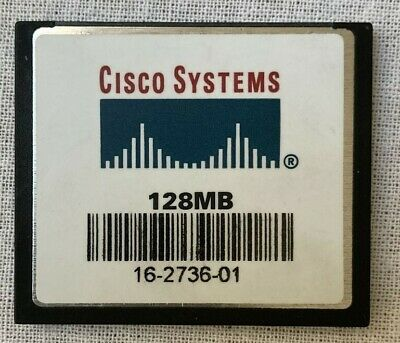 Genuine Cisco 128MB Compact Flash CF Memory Card 16-2736-01 Used SDcfb-128 • 3.75£