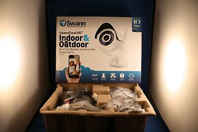 Swann ADS-466 Indoor & Outdoor Wi-Fi Wireless Security CCTV 720p HD Camera • 29.99£