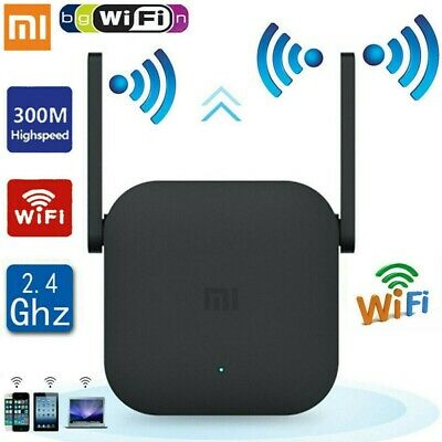 300Mbps Xiaomi Pro WiFi Amplifier 2.4G WIFI Repeater Extender Signal Boosters UK • 15.99£