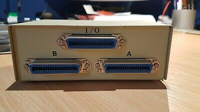 2 Way Centronics Parallel Printer Sharing Port Computer A-B Switch Box IEEE 1284 • 6£