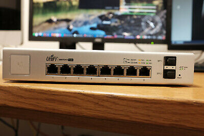 Ubiquiti Unifi 8 Port PoE Gigabit Managed Switch +2 SFP Model: US-8-150W - Boxed • 145£