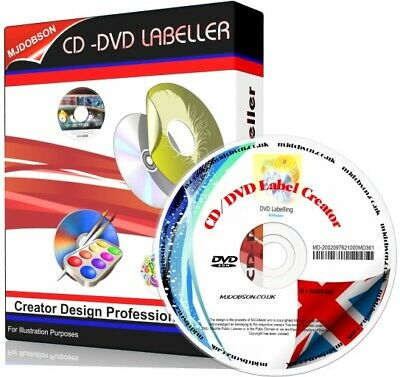 CD DVD Label Maker Creator Software - Professional Design & Print • 4.49£