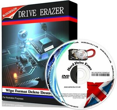 Erase Hard Drive Wipe Clean Format Delete Destroy Data PC's  Disk Eraser Cleaner • 4.49£