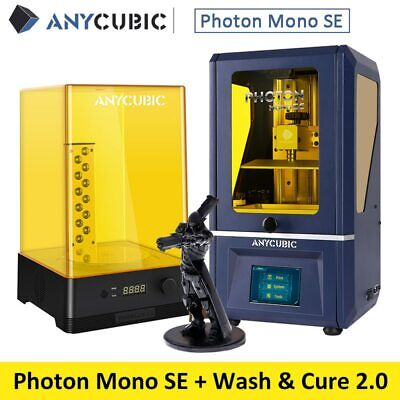 Anycubic Photon Mono SE 2K Monochrome LCD Screen Easy Leveling High Speed & Wash • 369£
