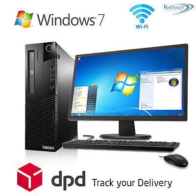FULL DELL/HP DUALCORE /i3 /i5 DESKTOP TOWER PC & TFT COMPUTER SYSTEM WINDOWS 7 • 67.99£