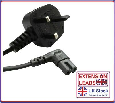 Samsung LED 4k UHD Flat Screen TV Mains Angled Power Lead Cable Long Black  • 6.99£