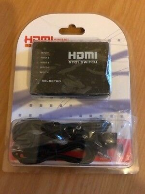 Hdmi Switch  50t1 With Accessories New In Packet • 1.99£