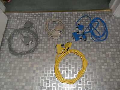 Job Lot Vintage PC Printer Cables Assorted • 3.50£